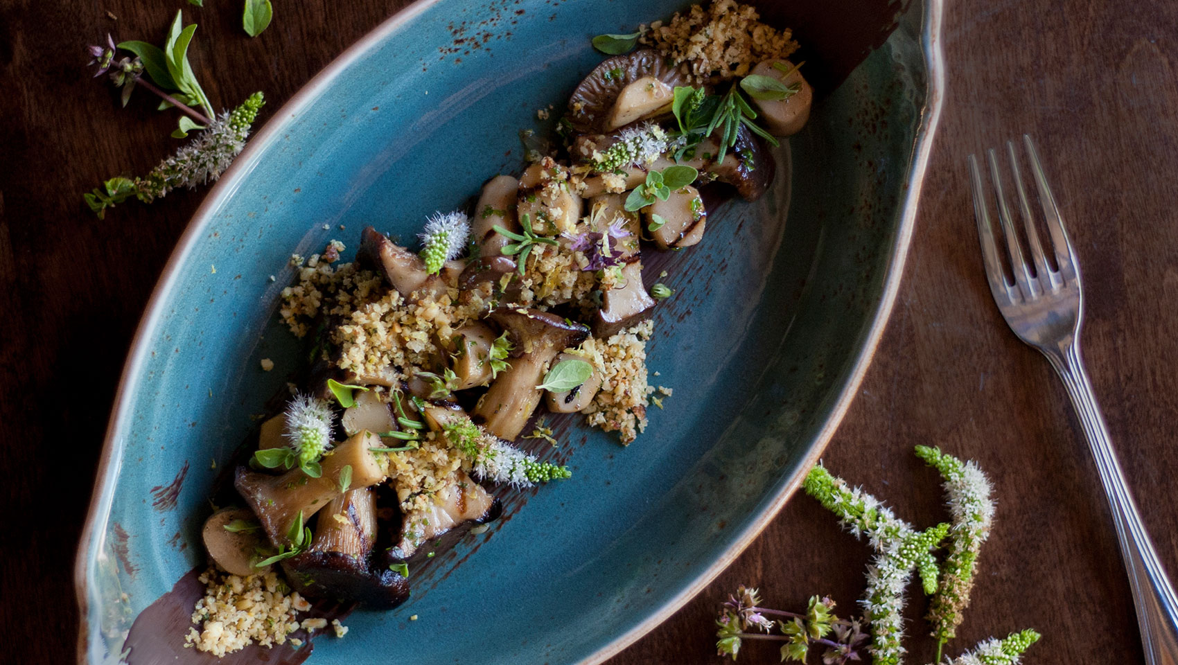 Double Take's oyster-mushrooms