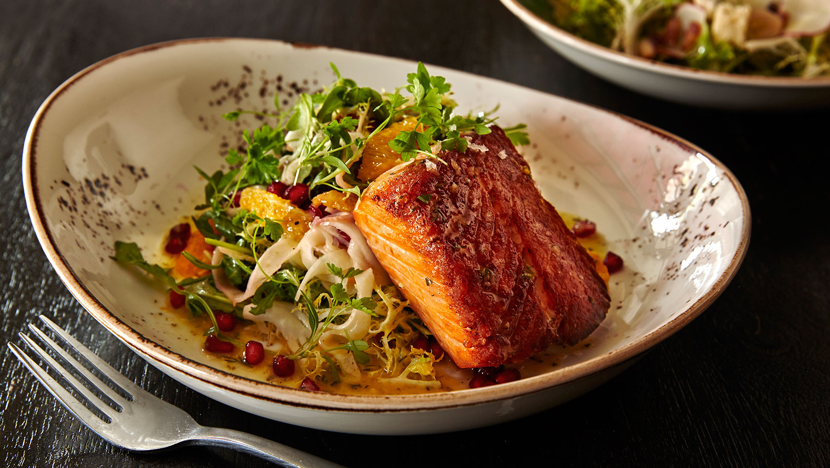 Double Take's Seared Salmon