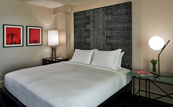 kimpton los angeles hotel palomar beverly hills premier guest room bed