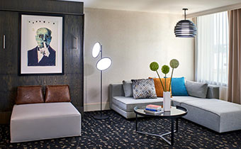 kimpton los angeles hotel palomar beverly hills Marquee Suite parlor